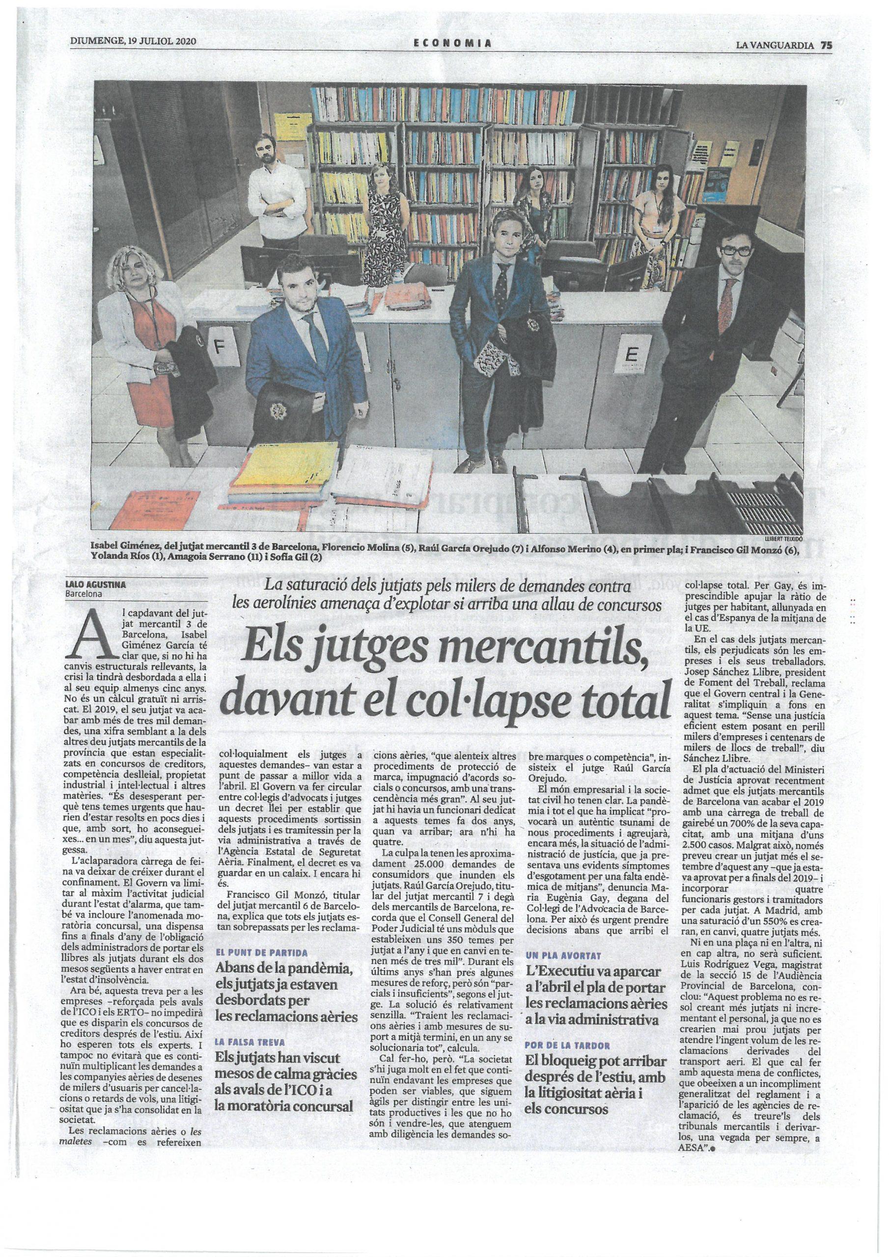Els Jutges Mercantils, davant el col.lapse total